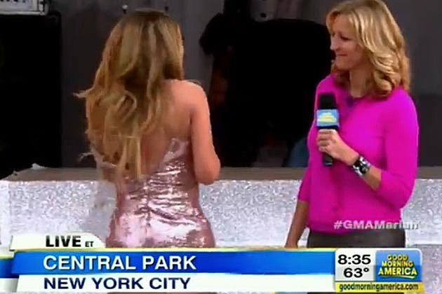 Mariah Carey Split Dress GMA