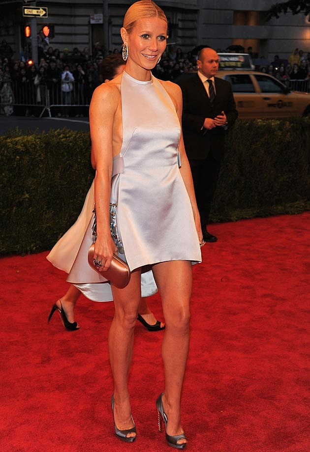 Gwyneth Paltrow Met Gala White Prada