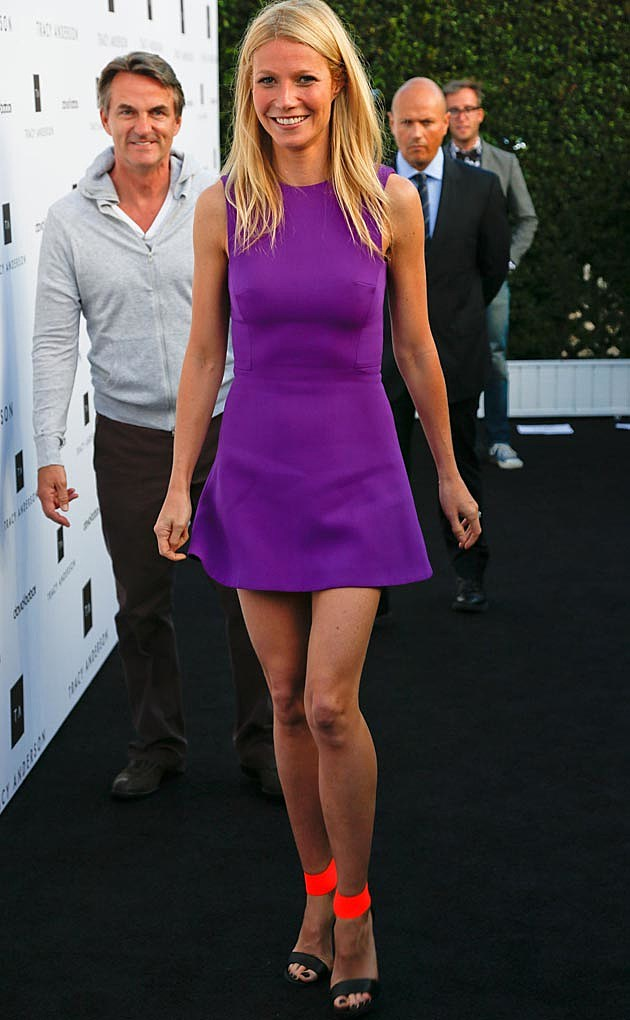 Gwyneth Paltrow Victoria Beckham Dress Michael Kors Shoes