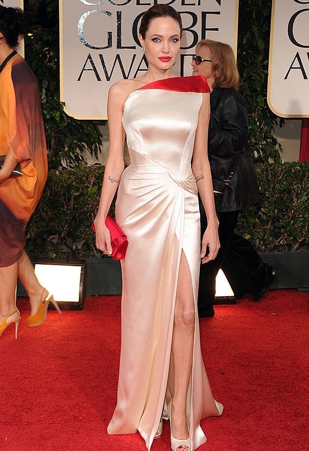 Angelina Jolie Golden Globes 2012 Versace