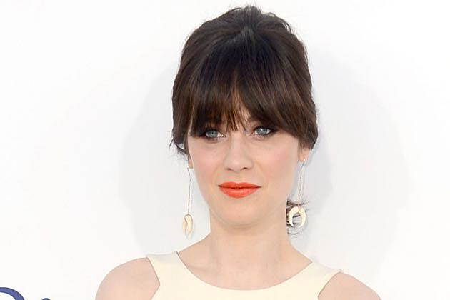 Zooey Deschanel Orange Lips