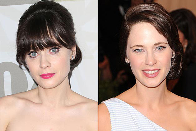 Zooey Deschanel Bangs Head Shots