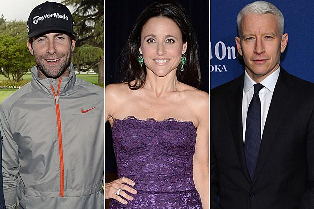 Adam Levine Julia Louis-Dreyfus Anderson Cooper
