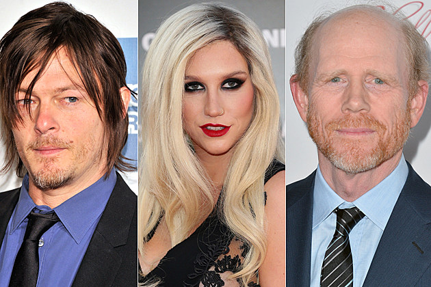 Norman Reedus, Kesha, Ron Howard