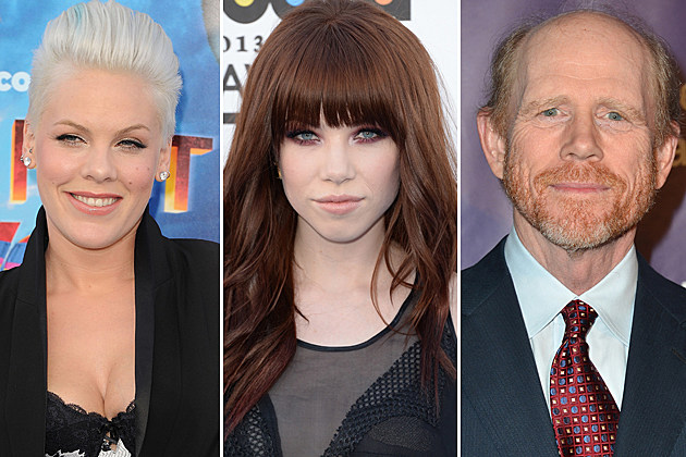 Pink, Carly Rae Jepsen, Ron Howard