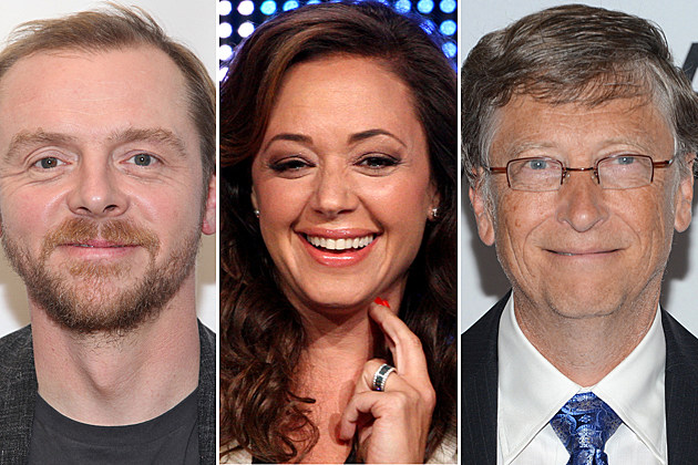 Simon Pegg, Leah Remini, Bill Gates
