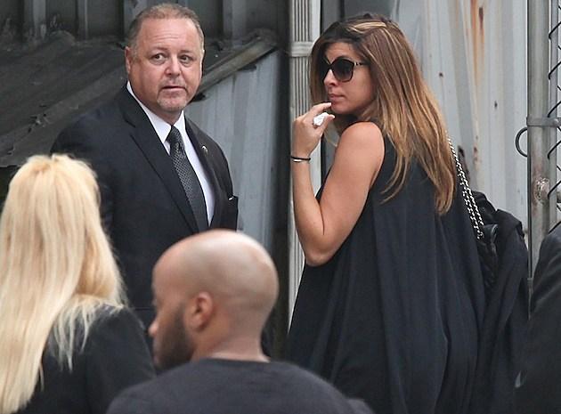 Jamie Lynn-Sigler James Gandolfini Funeral