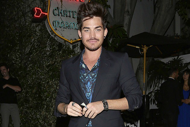 Adam Lambert leaves Chateau Marmont after partying with friends in Los Angeles