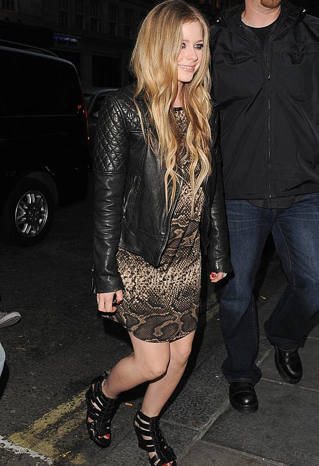 Avril Lavigne Leather Jacket Dress