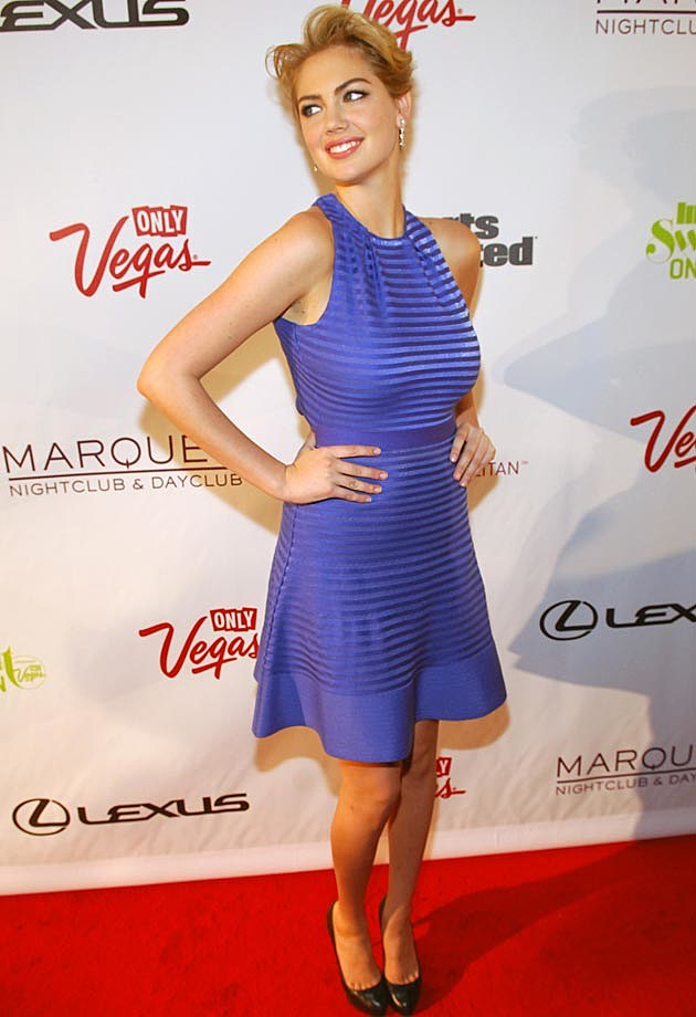 Kate Upton Blue Dress