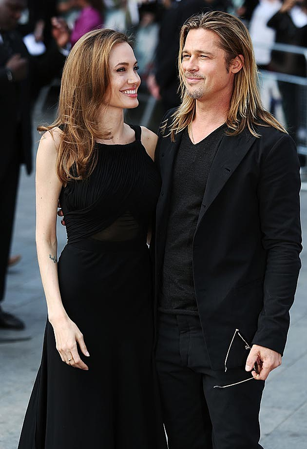 Angelina Jolie Brad Pitt World War Z Saint Laurent