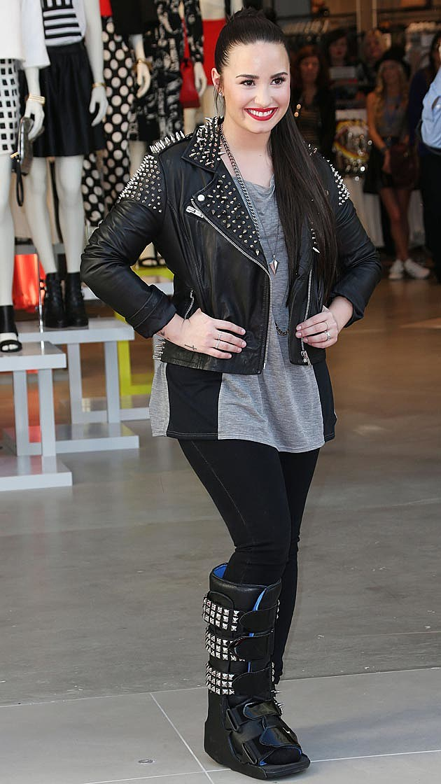 Demi Lovato Cast Leather