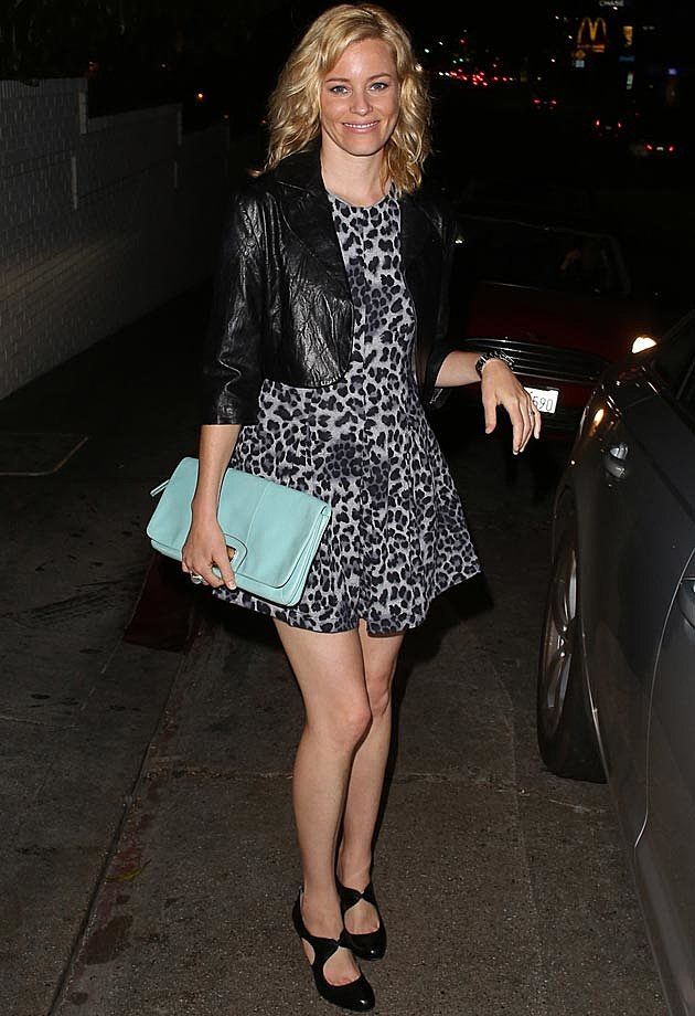 Elizabeth Banks Leather Dress
