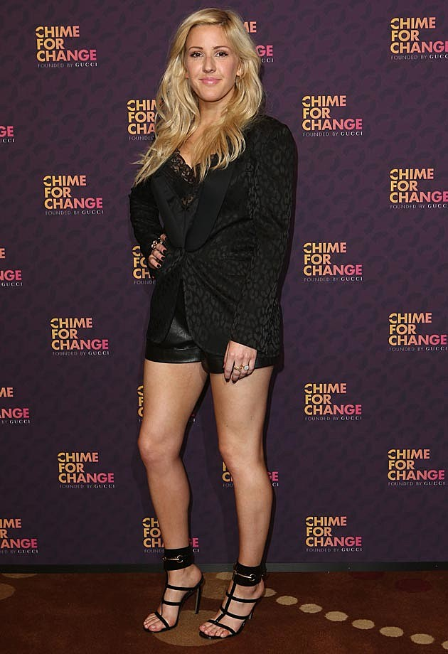 Ellie Goulding Leather Shorts