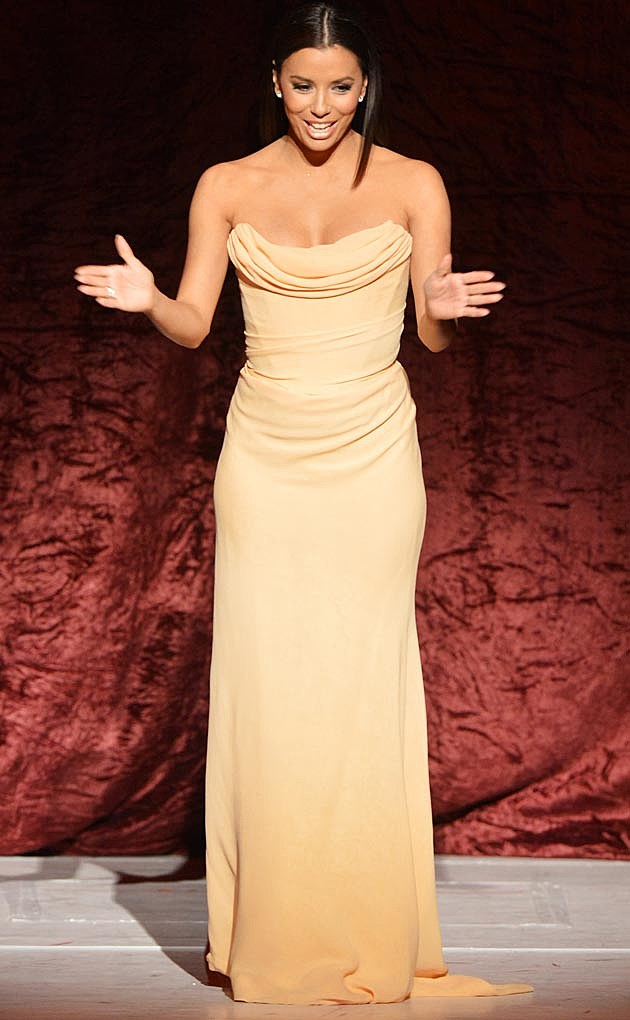 Eva Longoria Cream Gown
