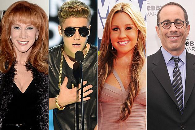 Kathy Griffin Justin Bieber Amanda Bynes Jerry Seinfeld