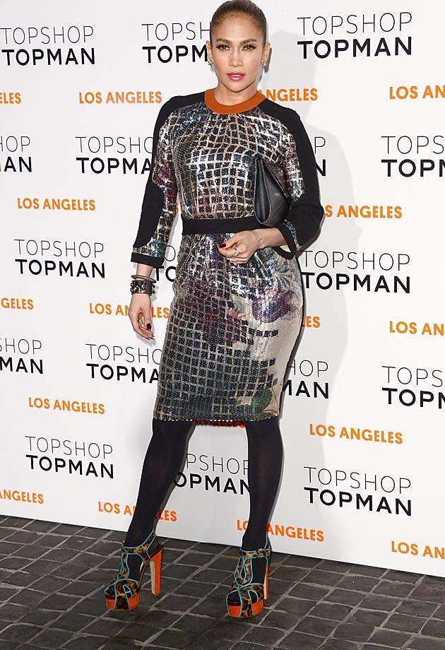 Jennifer Lopez Mosaic Print Tophop Topman