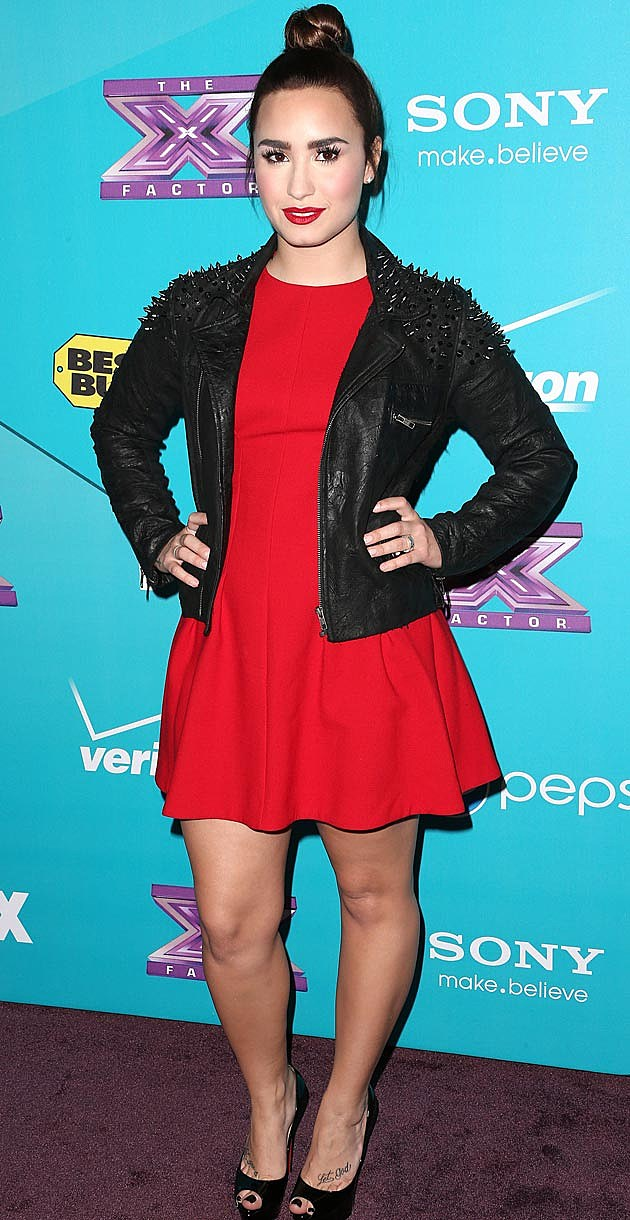 Demi Lovato Red Leather
