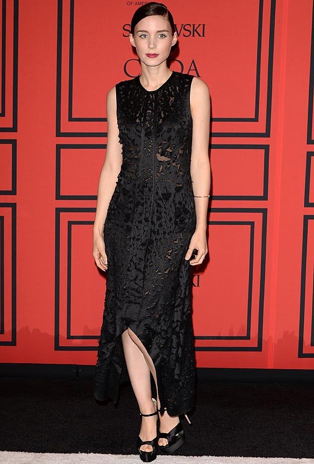 Rooney Mara Calvin Klein CFDAs