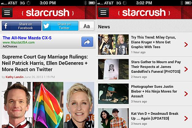 StarCrush Mobile Site