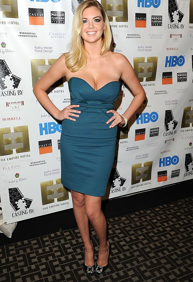 Kate Upton Teal Strapless