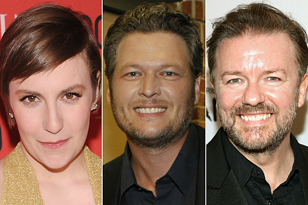 Lena Dunham, Blake Shelton and Ricky Gervais had some of the best tweets of our day.