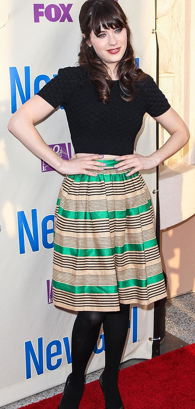 Zooey Deschanel Stripes