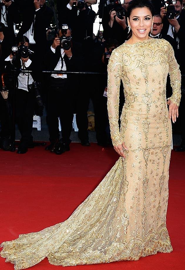 Eva Longoria Zuhair Murad Gold Cannes