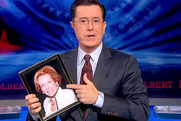 Stephen Colbert and his mother Lorna