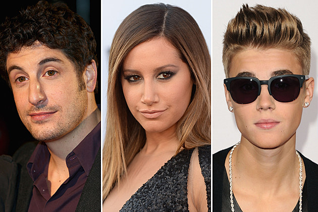 Jason Biggs, Ashley Tisdale, Justin Bieber