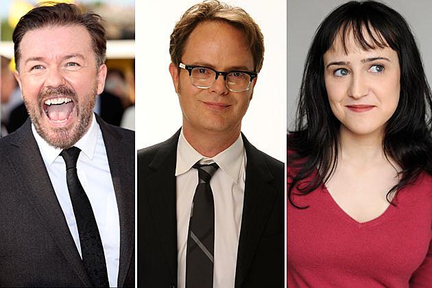 Ricky Gervais, Rainn WIlson, Mara Wilson