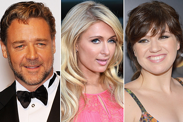 Russell Crowe, Paris Hilton, Kelly Clarkson
