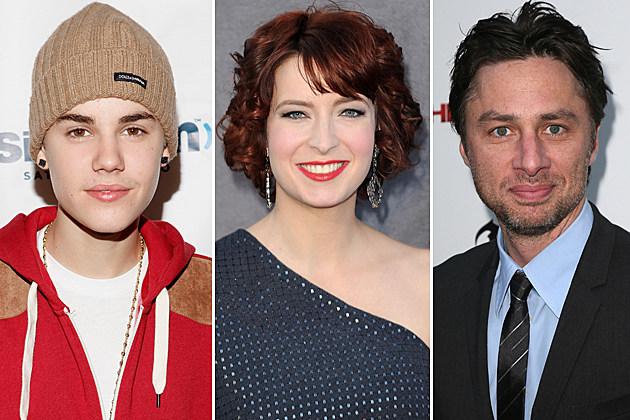 Justin Bieber, Diablo Cody, Zach Braff