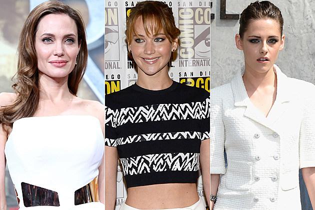 Angelina Jolie Jennifer Lawrence Kristen Stewart
