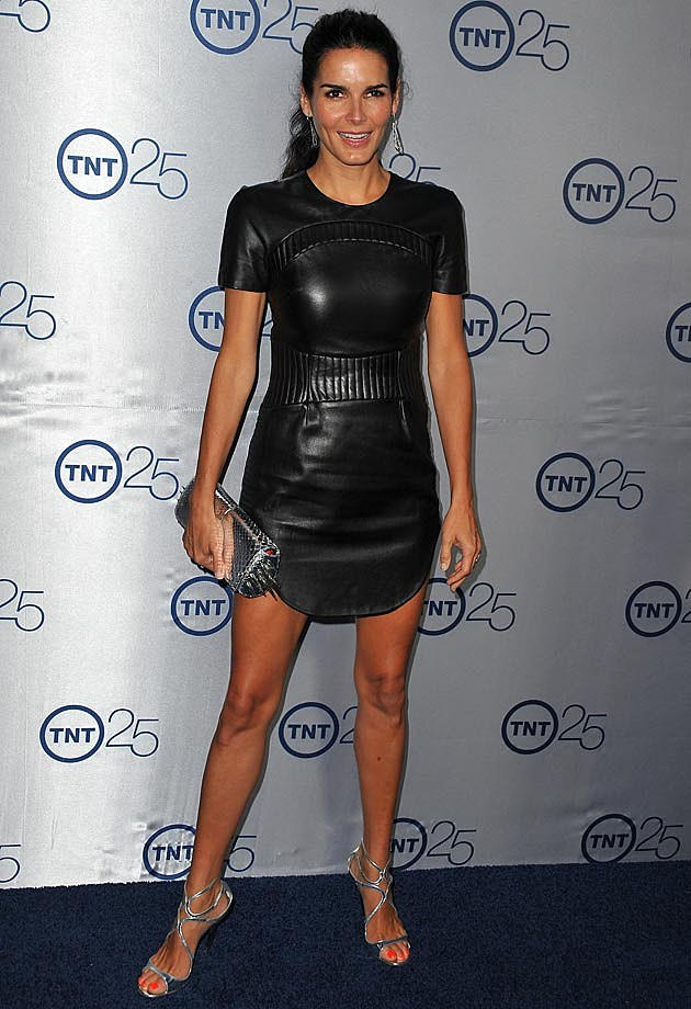 Angie Harmon Black Leather