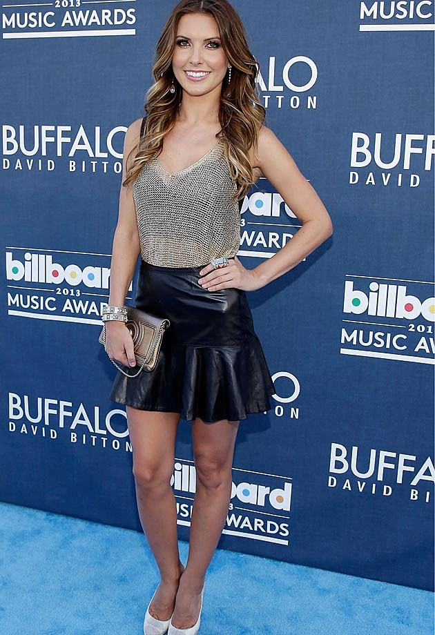 Audrina Patridge Leather Skirt