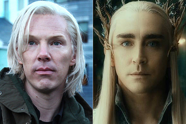 Benedict Cumberbatch Julian Assange Lee Pace Thranduil