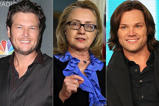 Blake Shelton Hillary Clinton Jared Padelecki