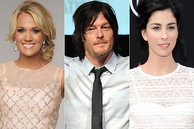 Carrie Underwood Norman Reedus Sarah Silverman