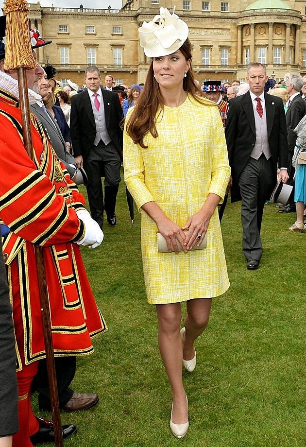 Yellow Emilia Wickstead Kate Middleton Pregnancy