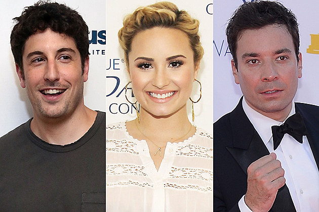 Jason Biggs Demi Lovato Jimmy Fallon