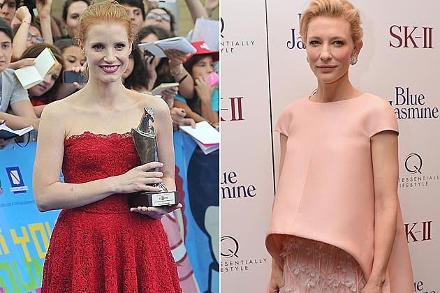 Jessica Chastain Dolce + Gabbana Cate Blanchett Balenciaga
