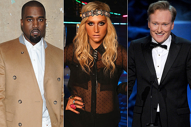 Kanye West Kesha Conan O'Brien