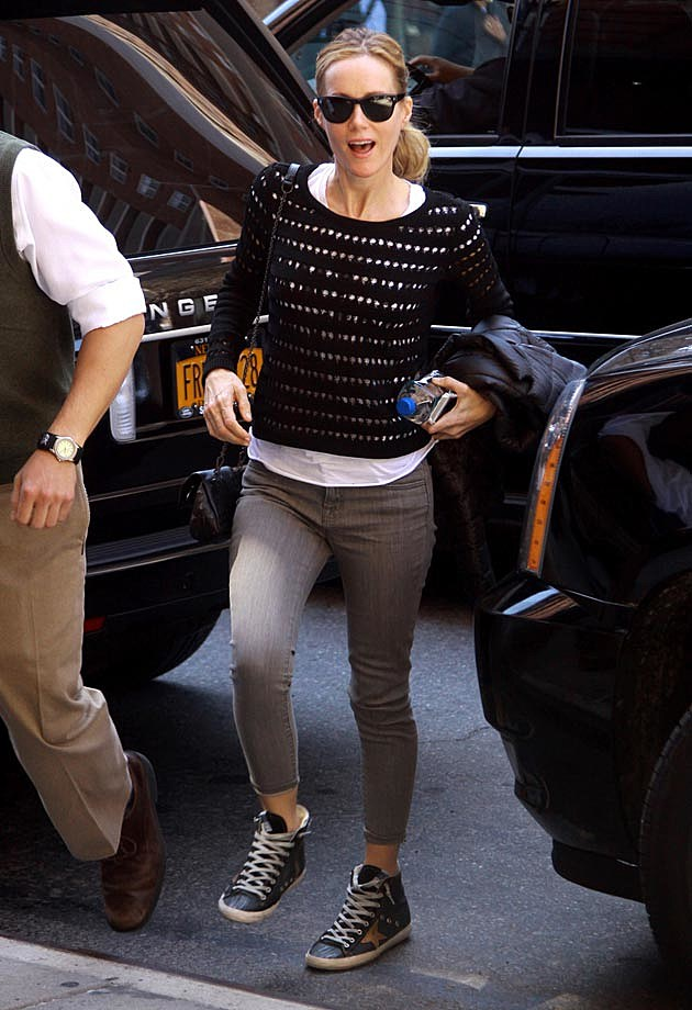 Leslie Mann Grey Ankle Skinnies