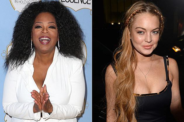 Oprah Winfey Lindsay Lohan