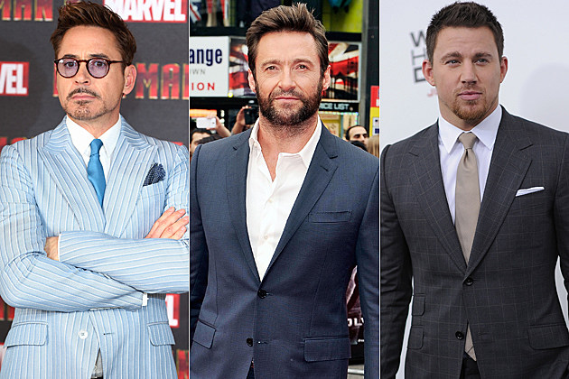 Robert Downey Jr. Hugh Jackman Channing Tatum