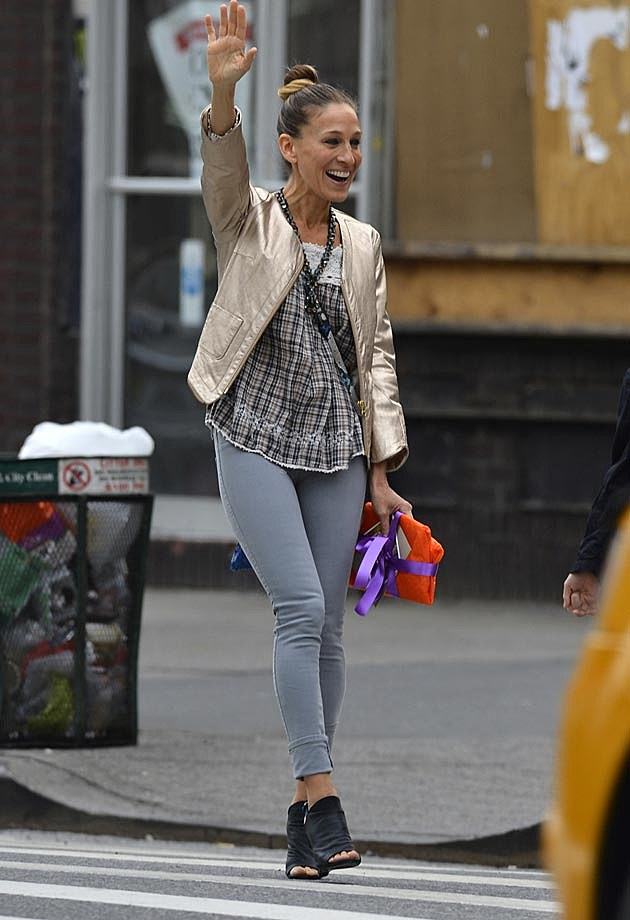 Sarah Jessica Parker Grey Ankle Skinnies