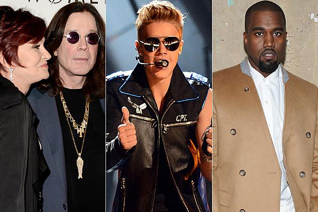 Sharon Osbourne Ozzy Osbourne Justin Bieber Kanye West