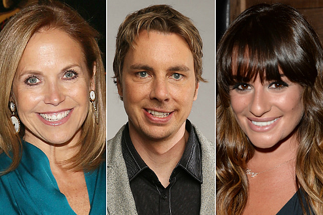 Katie Couric, Dax Shepard and Lea Michele tweeted their way into our list today.