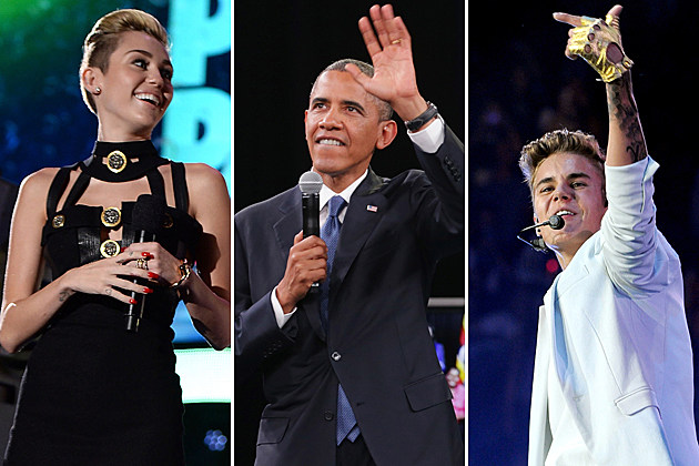 Miley Cyrus Barack Obama Justin Bieber Tweets